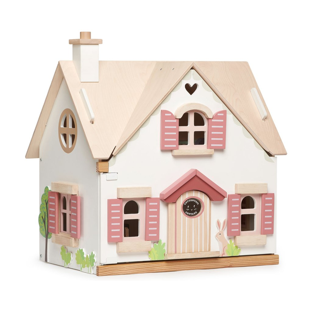 Wooden Doll House - Cottontail Cottage (with furniture set)