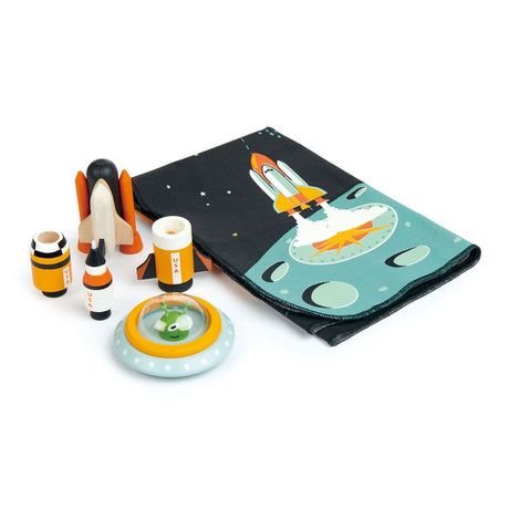 Space Adventure Space Playmat with Wooden Toys