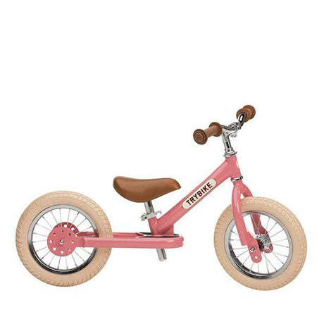 preorder (delivery 2nd week September) Trybike Steel- Balance Bike Vintage Pink