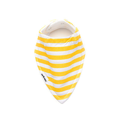 Yellow Stripes Bandana Bib – 'Organic'