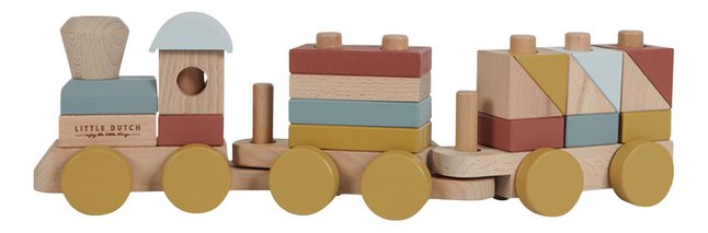 Wooden Stacking Train - Natural