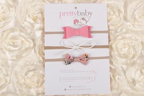 Strawberries and Cream bow set 3pk