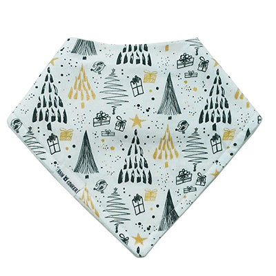 BLACK + GOLD CHRISTMAS BANDANA BIB