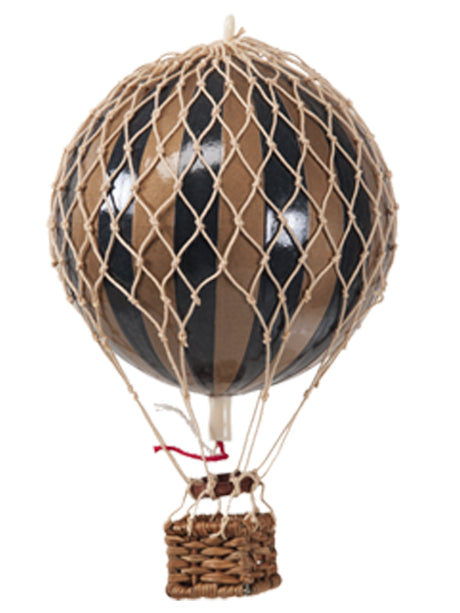 AUTHENTIC MODELS HOT AIR BALLOON BLACK & GOLD- METALLIC COLLECTION