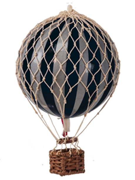 AUTHENTIC MODELS HOT AIR BALLOON BLACK & SILVER- METALLIC COLLECTION