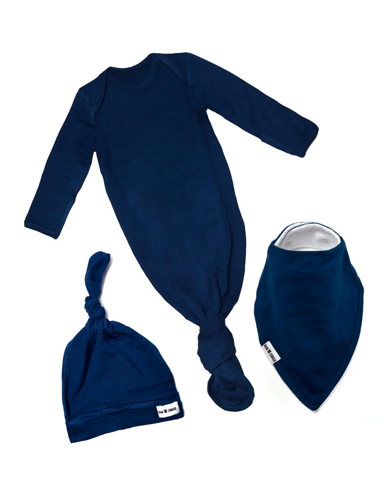 Baby Gift Hat Bundle - Indigo