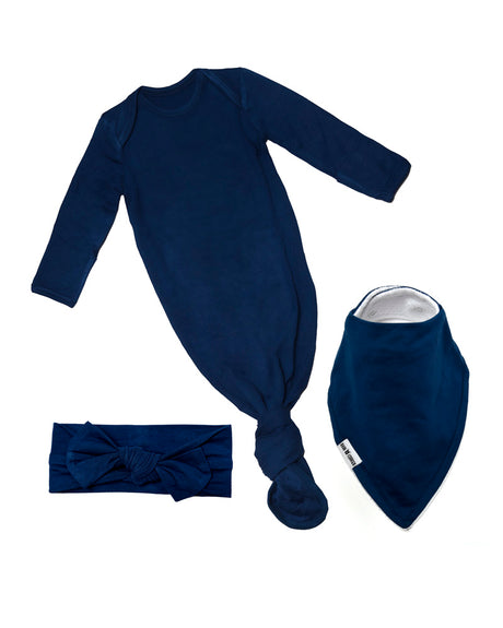 Baby Gift Bow Bundle - Indigo