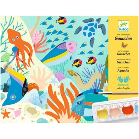 Djeco - Natural World gouache paints craft set