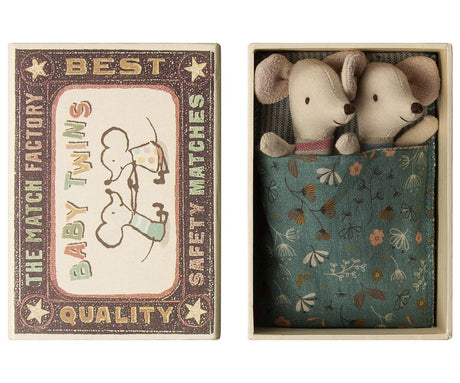Maileg Baby Mice - Twins in a Box (Preorder 14th March)