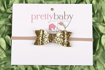 Gold Sparkle Bow Headband