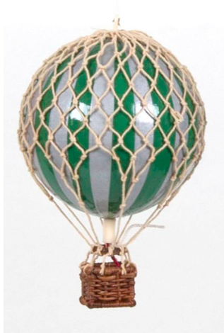AUTHENTIC MODELS HOT AIR BALLOON GREEN AND SILVER - Metallic Collection