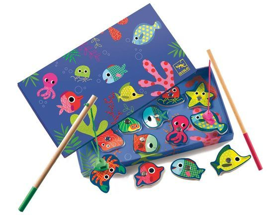 Djeco Magnetic Fishing Game - Colourful