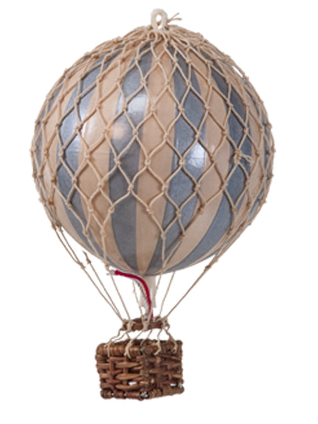 AUTHENTIC MODELS HOT AIR BALLOON IVORY & SILVER - METALLIC COLLECTION