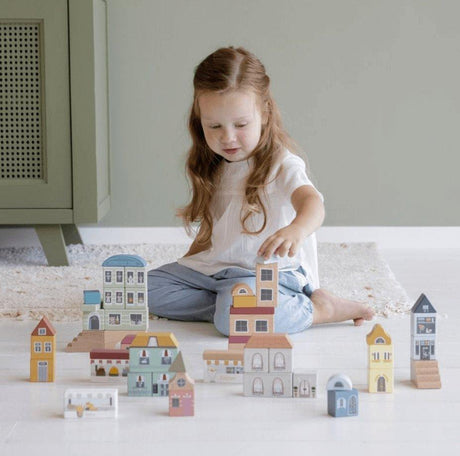 Little Dutch City Building Blocks- (can be used as standalone toy or as part of the XXL Railway set)