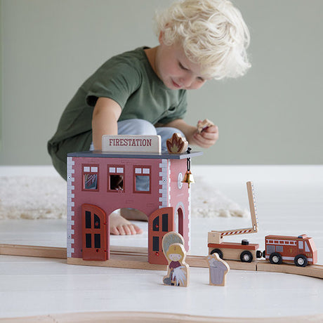 Little Dutch Firestation- (can be used as standalone toy or as part of the XXL Railway set)