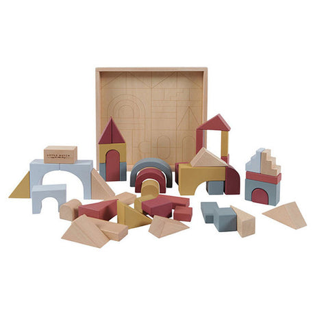 Little Dutch Wooden Building Blocks - Pure & Natural - Set of 47