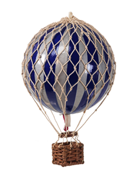AUTHENTIC MODELS HOT AIR BALLOOn NAVY AND SILVER- METALLIC COLLECTION