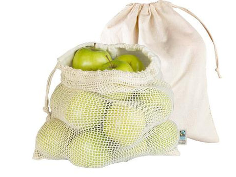 Organic Cotton Produce Bags - 2 Pack