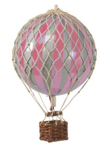AUTHENTIC MODELS HOT AIR BALLOON PINK AND SILVER - Metallic Collection