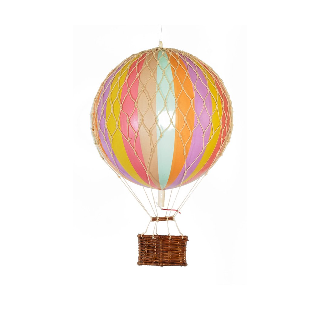AUTHENTIC MODELS HOT AIR BALLOON PASTEL RAINBOW