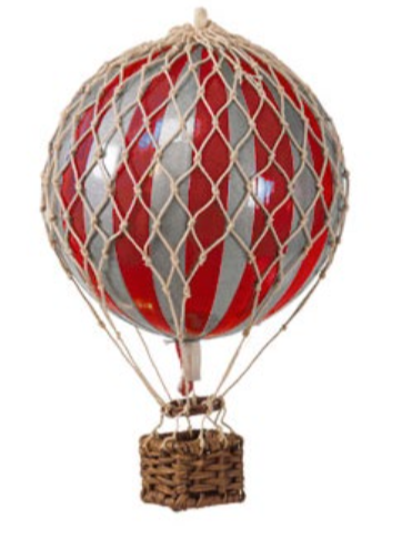 AUTHENTIC MODELS HOT AIR BALLOON RED AND SILVER - Metallic Collection