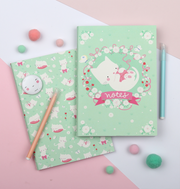 2 Pack A5 Notebooks - Cat