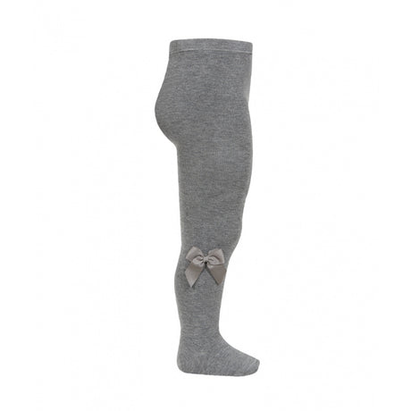 Tights with Side Bow - LIGHT GREY