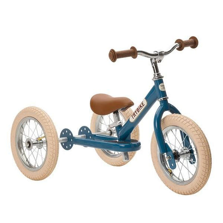 Trybike Steel- 2 in 1 Balance Bike Vintage Blue