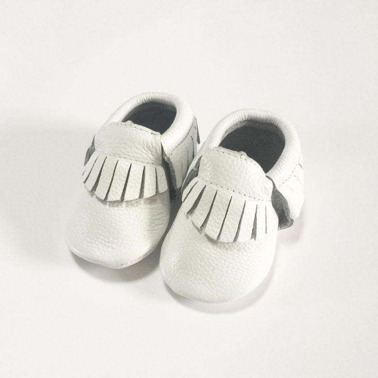 White Moccasins - Premium Leather