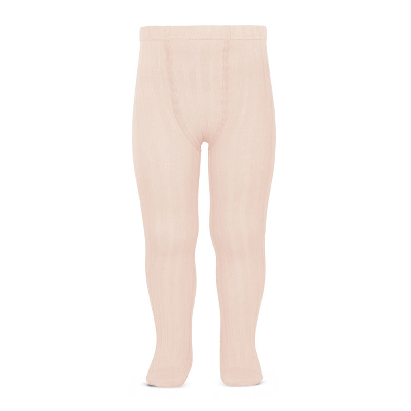 Wide-rib basic tights NUDE (BLUSH)