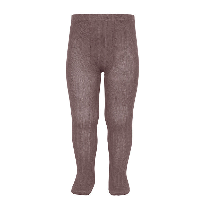 Wide-rib basic tights PRALINE