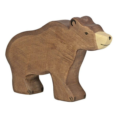 Wooden Brown Bear (Small)
