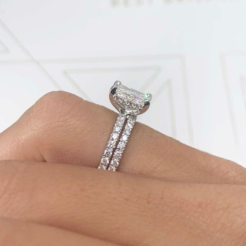engagement ring with a wedding band