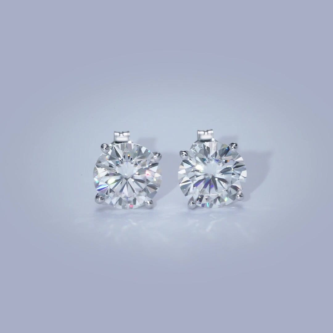The Magnolia Earrings - 4 Carat Diamond Stud Earrings
