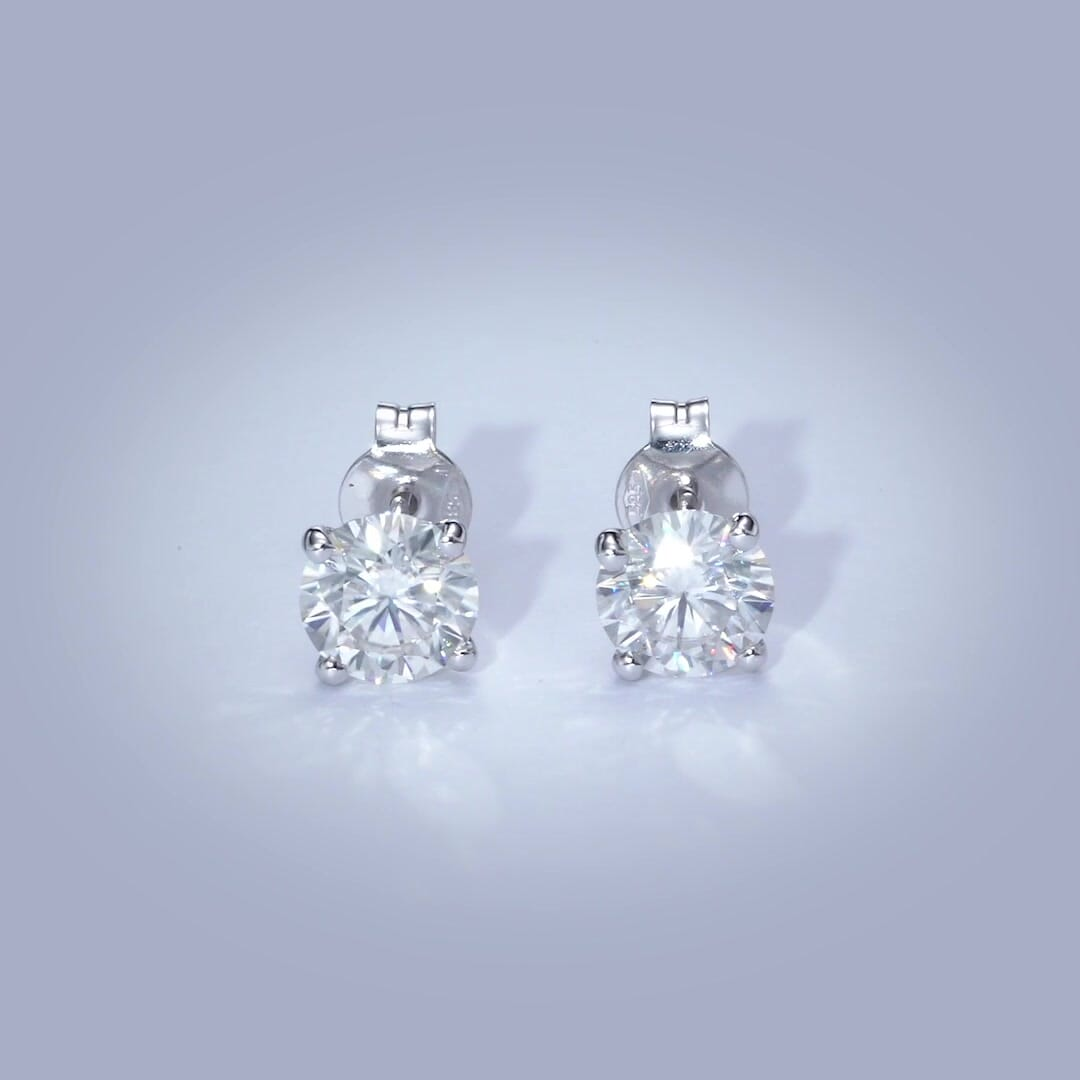 The Allen Earrings - 2 Carat Diamond Stud Earrings