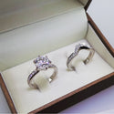 3 CARAT F SI1 ROUND BRILLIANT CUT DIAMONDS SET IN 14K WHITE GOLD MATCHING BRIDAL SET