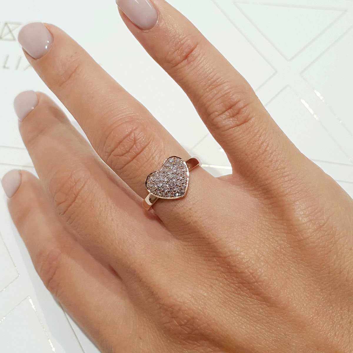 The Penelope Engagement Ring - 14K Rose Gold 0.38 Carat Natural Fancy Pink VS2 Fashion Diamonds Ring #PT1348