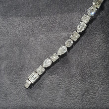 Load image into Gallery viewer, 18K White Gold Natural Diamonds Tennis Bracelet 24.63 Carat Round G VS1 #PT1446
