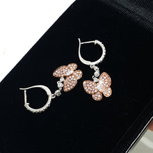 Load image into Gallery viewer, 0.87 Carat Fancy Pink - 18K Rose Gold Butterfly Design Earrings #PT1450