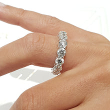 Load image into Gallery viewer, 18K White Gold Round Diamonds Shape Eternity Ring 3.55 Carat F VS1 #PT1635