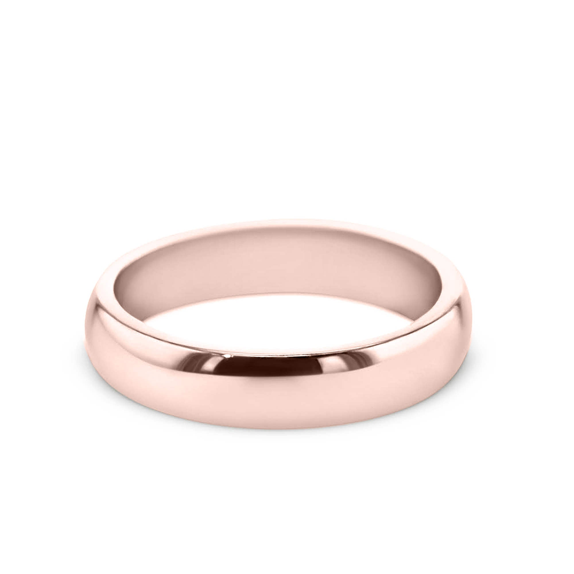 14K Rose Gold Solitaire Wedding Band Model #194W_RDR