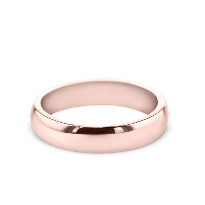 18K Rose Gold Solitaire Wedding Band Model #194W_RDR2