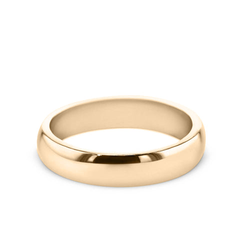 18K Yellow Gold Solitaire Wedding Band Model #194W_RDY2