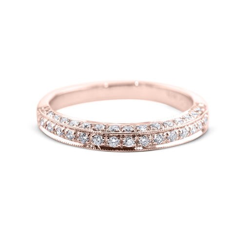 0.5 Carat Diamond Wedding Band - 18K Rose Gold Channel Setting #1969W_RDR2