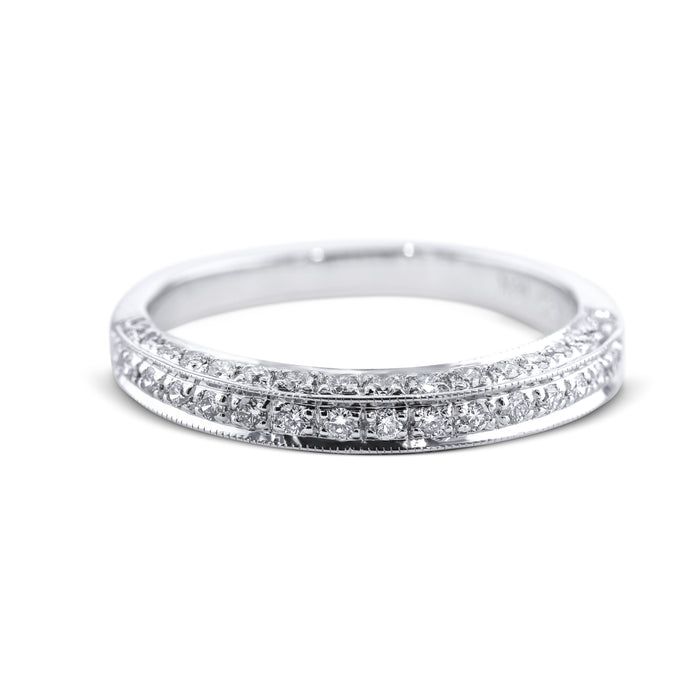 0.5 Carat Diamond Wedding Band - 18K White Gold Channel Setting #1969W_RD2