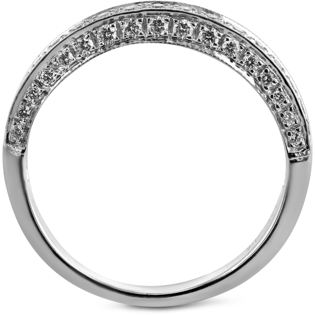 0.5 Carat Diamond Wedding Band - Platinum Channel Setting #1969W_RD3