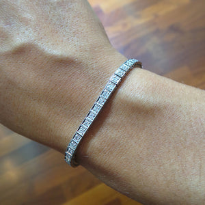 1 Carat E-F VS Natural Diamonds Tennis Bracelet - 14K or 18K White Gold #J99989