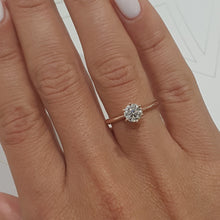 Load image into Gallery viewer, 1.8 CARAT ROUND G SI1 SOLITAIRE ENGAGEMENT RING - 18K ROSE & WHITE GOLD