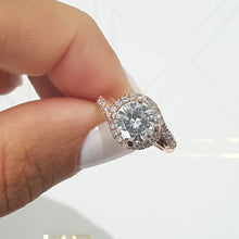 Load image into Gallery viewer, Stella Moissanite & Diamonds Ring - 1.75 CARAT D VVS1 TWISTED DESIGN - 14K ROSE GOLD #M10005