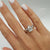 1.5 Carat Pear F SI1 - 14K White Gold Diamond Engagement Ring #J99175